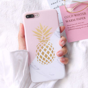 Pineapple Marble  Splice TPU Case Iphone 8 Plus